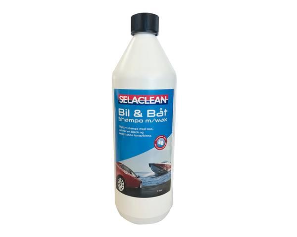 Bilde av Selaclean Bil og båtshampoo m/wax 1 L